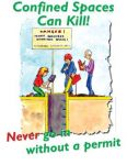 Confined Spaces Safety Poster